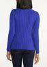 Plus Size Blue Ribbed Sweater alternate view