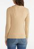 Plus Size Blue Ribbed Sweater alt view