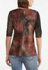 Plus Size Textured Puff Sleeve Top alternate view