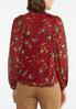 Plus Size Floral Mesh Sleeve Top alternate view