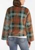 Plus Size Plaid Faux Fur Jacket alternate view