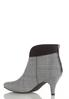 Wide Width Plaid Heeled Ankle Boots alternate view