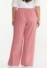 Plus Size Rose Linen Pants alternate view