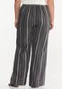 Plus Size Stripe Linen Pants alternate view