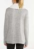Plus Size Sherpa Cowl Neck Top alternate view