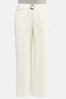 Plus Size Ivory Belted Pants alternate view