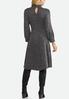Plus Size Shimmer Smock Neck Corset Dress alternate view
