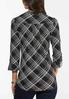 Plus Size Dotted Plaid Top alternate view