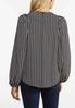 Plus Size Houndstooth Balloon Sleeve Top alternate view