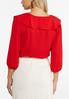 Plus Size Red Ruffled Top alternate view