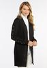 Plus Size Pearl Embellished Cardigan Sweater alt view