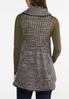 Plus Size Faux Leather Trim Sweater Vest alternate view