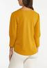 Plus Size Gold Puff Sleeve Top alternate view