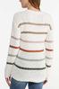 Plus Size Striped Popcorn Sweater alt view