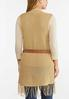 Belted Fringe Sweater Vest alternate view
