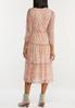 Plus Size Rose Medallion Mesh Midi Dress alternate view