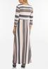 Plus Size Mixed Stripe Maxi Dress alternate view