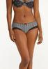 Plus Size Striped Hipster Panty Set alt view