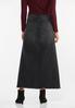 Plus Size Black Denim Maxi Skirt alternate view