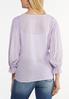 Lavender Ruffled Sleeve Top alternate view