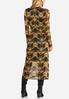 Plus Size Printed Mesh Midi Dress alternate view
