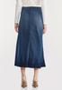 Plus Size Crinkle Hem Denim Skirt alternate view