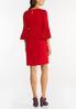 Plus Size Red Scuba Sheath Dress alternate view