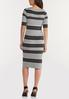 Striped Midi Sweater Dress alternate view
