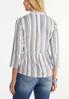 Plus Size Striped Linen Blazer alternate view