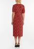 Plus Size Heart Print Midi Dress alternate view
