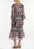 Plus Size Ruffled Patchwork Midi Dress alternate view