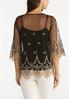 Gold Embroidered Mesh Top alternate view