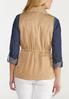 Plus Size Cinched Waist Utility Vest alternate view