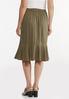 Plus Size Flounced Button Front Skirt alternate view