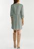 Plus Size Button Front Babydoll Dress alternate view