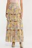 Plus Size Floral Tiered Maxi Skirt alternate view