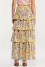 Plus Size Floral Tiered Maxi Skirt alt view