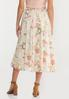 Plus Size Brushed Floral Party Skirt alternate view