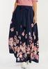Plus Size Navy Floral Maxi Dress alt view