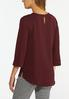 Plus Size Solid Front Pocket Top alternate view