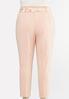 Plus Size Floral Belted Slim Pants alternate view