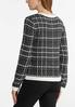 Checkered Pearl Button Sweater alternate view