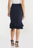 Plus Size Solid Double Ruffle Skirt alternate view