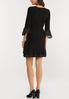 Plus Size Pleated Chiffon Trim Dress alternate view