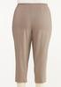 Plus Size Button Hem Cropped Bengaline Pants alternate view