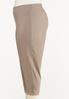 Plus Size Button Hem Cropped Bengaline Pants alt view