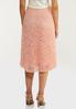 Plus Size Pleated Lace Midi Skirt alternate view
