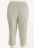 Plus Size Cropped Bengaline Pants alternate view