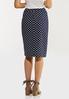Plus Size Navy Polka Dot Pencil Skirt alternate view