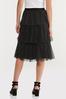 Plus Size Tiered Polka Dot Skirt alt view